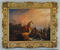 N. Pieneman, Oil On Canvas Painting - Signed