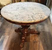 French Charles X center table