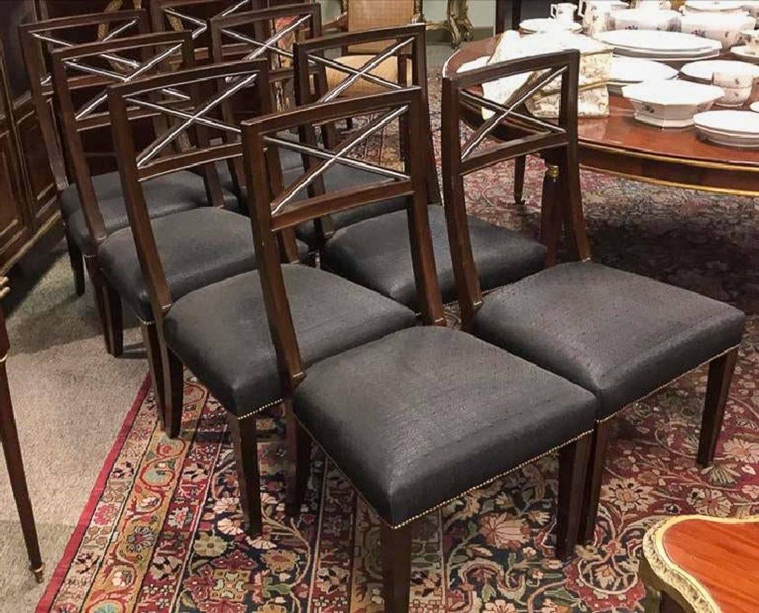 8 Hollywood Regency Dining Chairs.