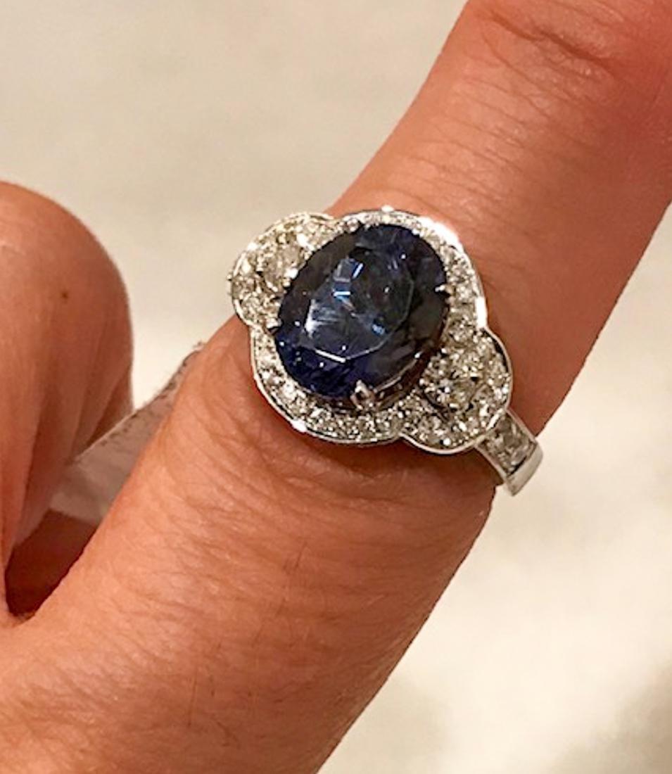Tanzanite & Diamond Ring.