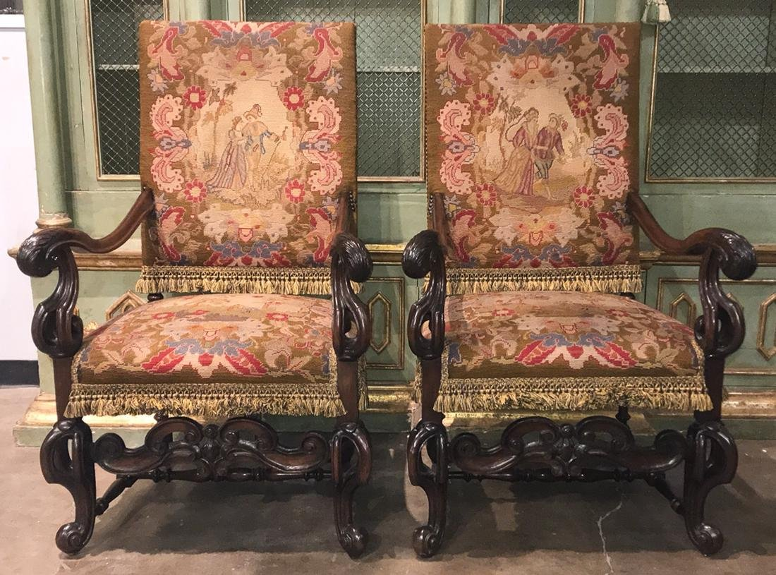 Pair Of 18th C. French Fauteuils.