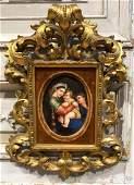 Antique Italian Painting On Porcelain.
