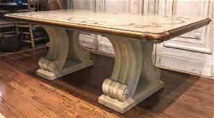 Custom Italian Style Painted Dining Table