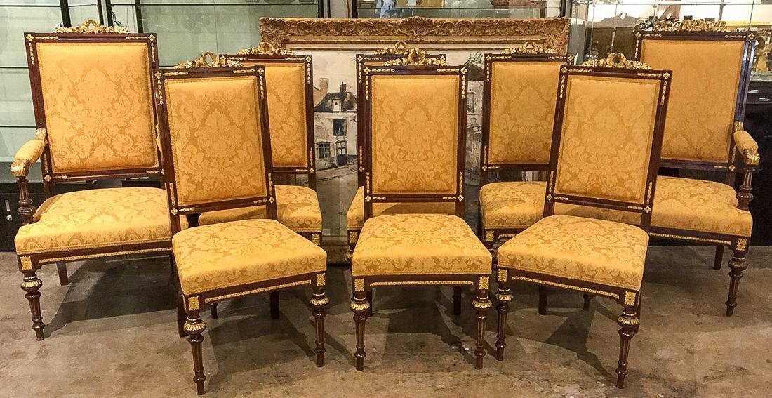 Set Of 8 French Dining Chairs.