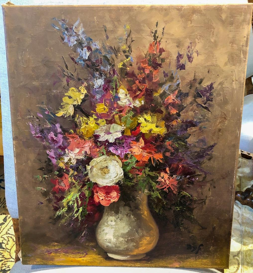 After Marcel Dyf, Floral Still Life Painting.