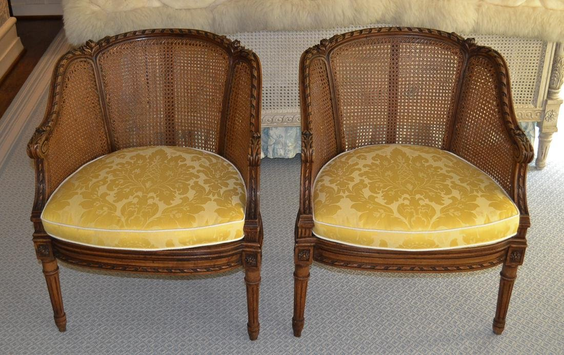 Pair of French Louis XVI Chairs.