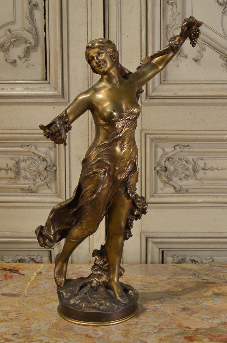 Signed P. Gasq, French Bronze Woman.