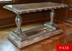 Monumental Pair of Palace Tables