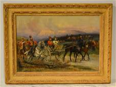 Edouard Detaille Military Painting  Signed