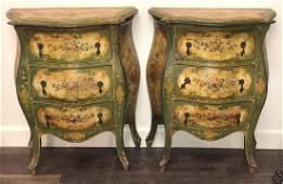 Pair Of Antique Venetian Commodes.