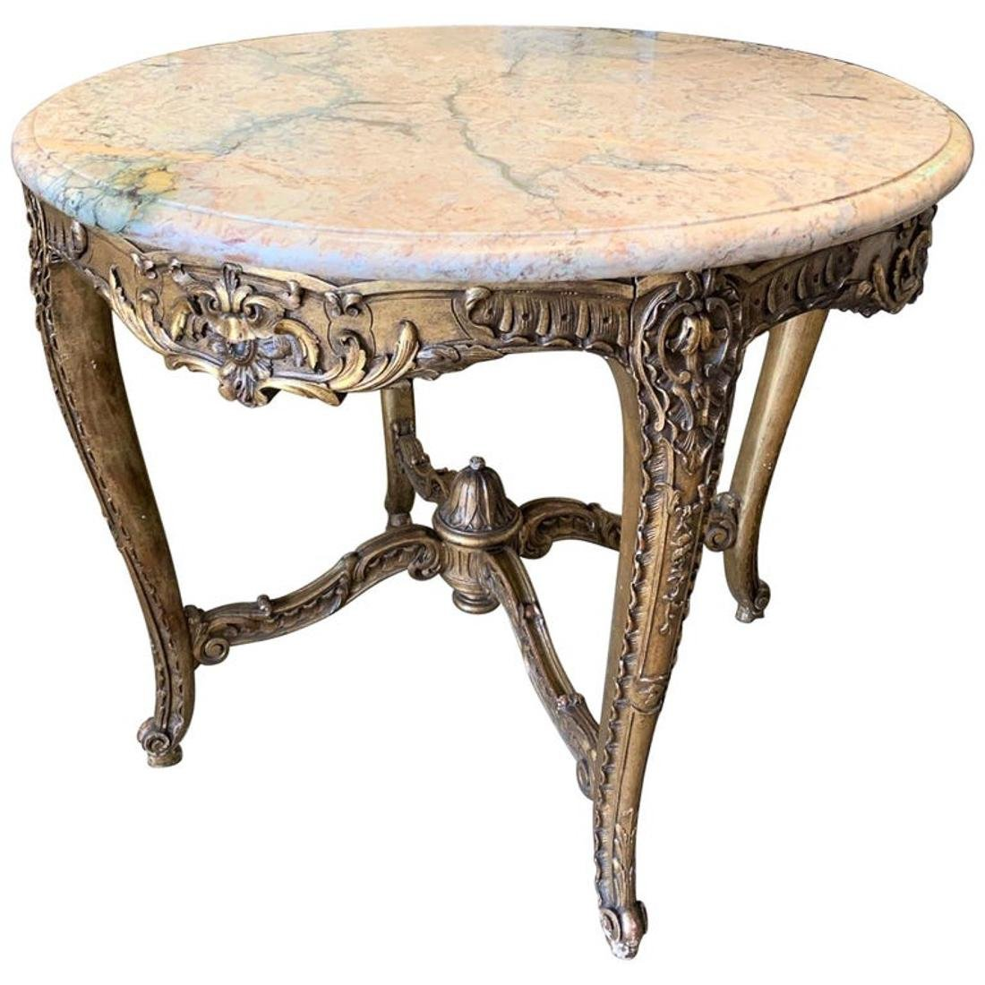 Giltwood Louis Xv Center Table
