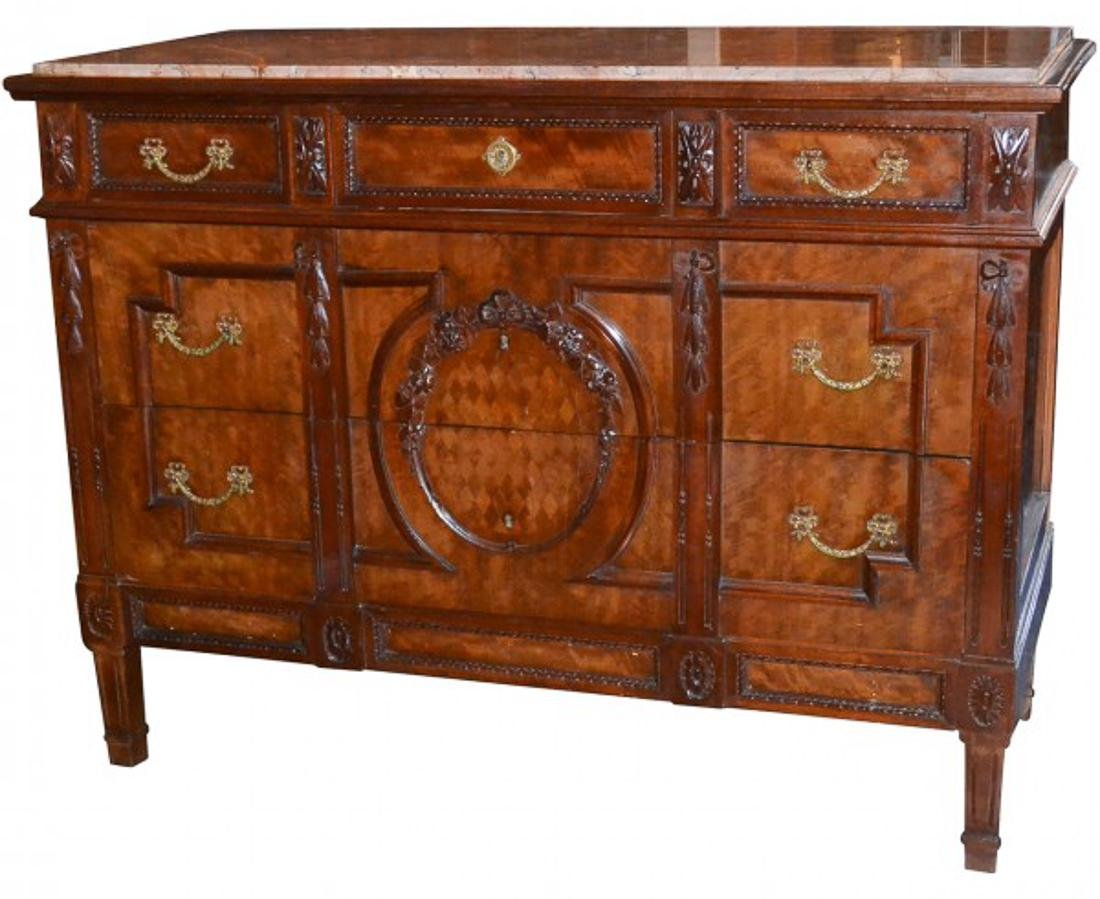 19th C. French Walnut Commode.