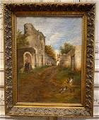 19th Century French Oil Painting.