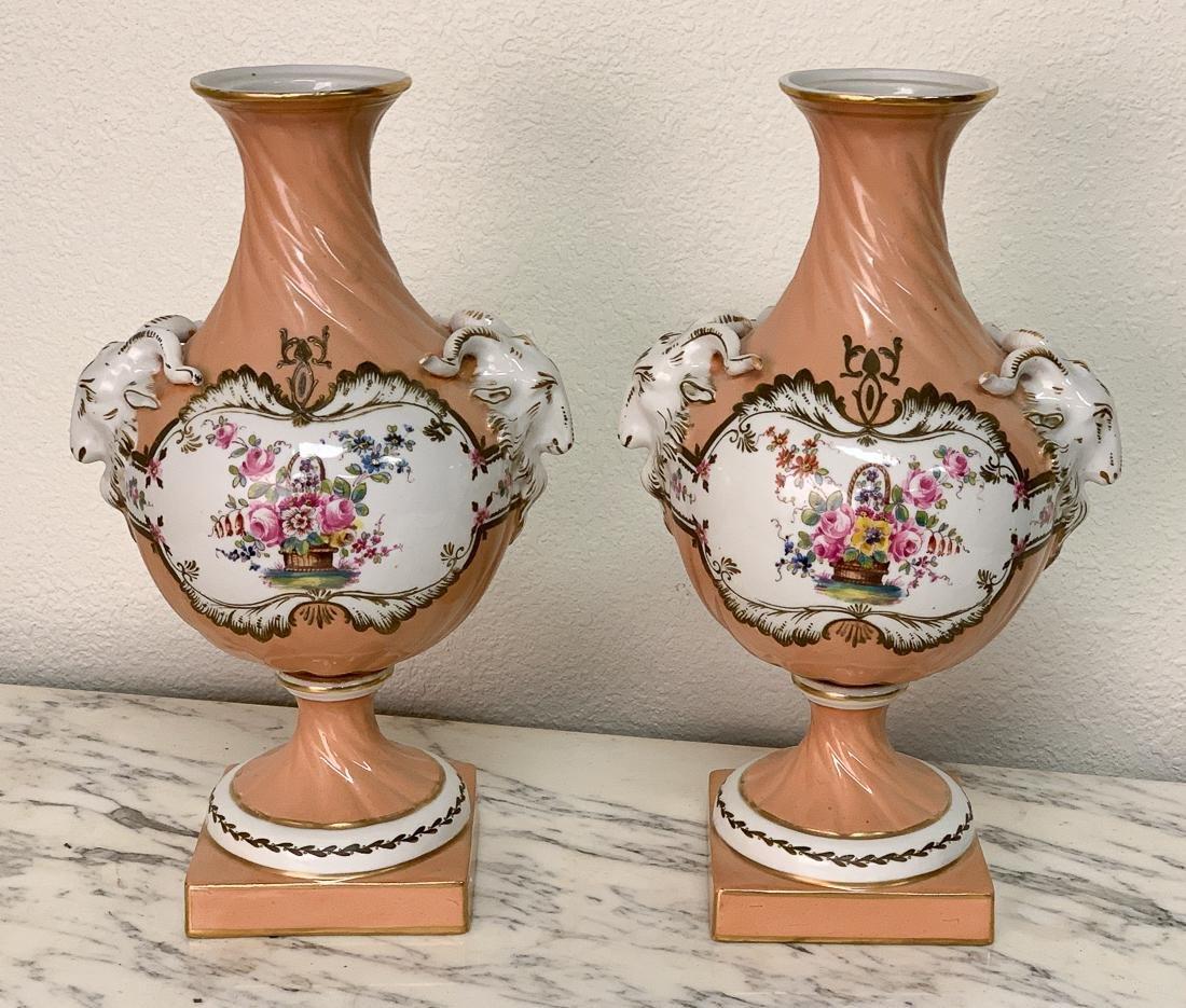 Pair Of Old Paris Vases.