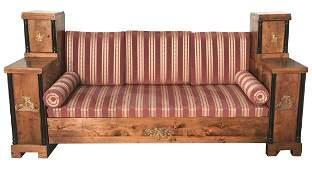 Rare Period Swedish Sofa, With Bronze Mounts