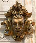 Antique Italian Carved Wall Plaque.