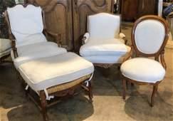 Three Chairs & An Ottoman.