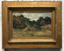Vintage Oil On Canvas Painting.