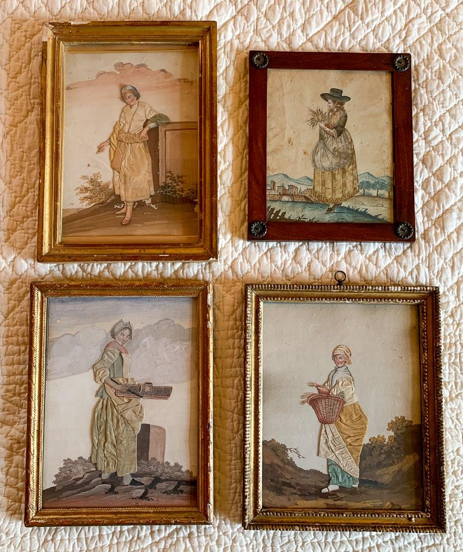 4 Antique French Art Pieces.
