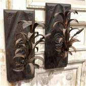 Great Pair Of 18 Th C Italian Iron Sconce