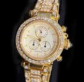 Cartier 18k Chronograph Pasha Diamond Watch