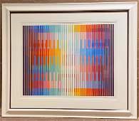 Yaacov Agam, White Light, Serigraph In Color