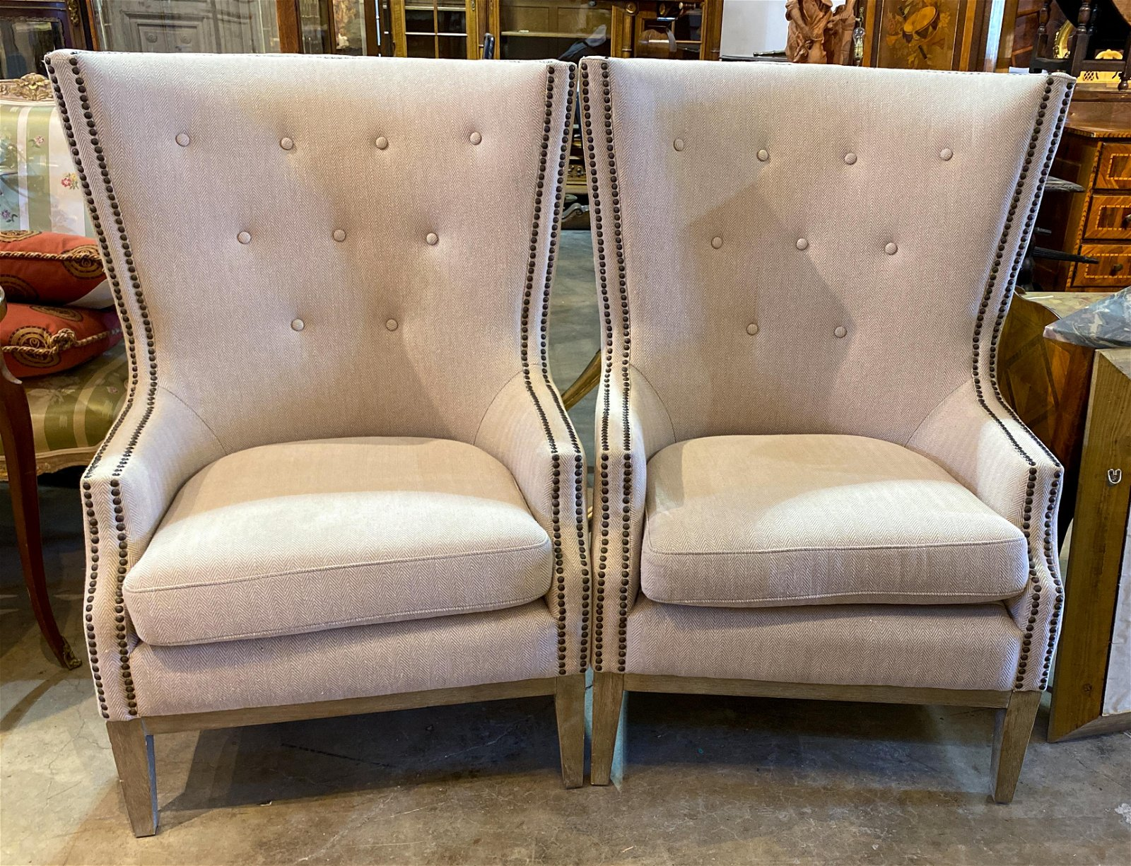 Pair Of Contemporary Upholstered Chairs