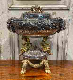 Wonderful Italian Figural Silver Centerpiece