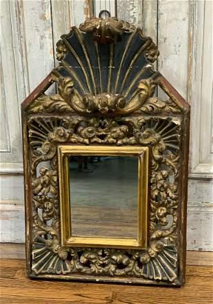 19th Century Italian Parcel Gilt Mirror