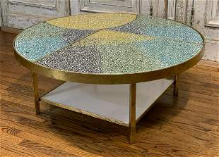 Contemporary Glass Mosaic Coffee Table