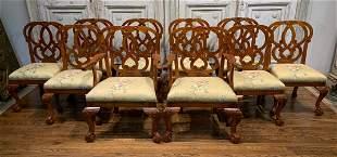 Set Of 10 Irish Georgian Style Dining Chairs