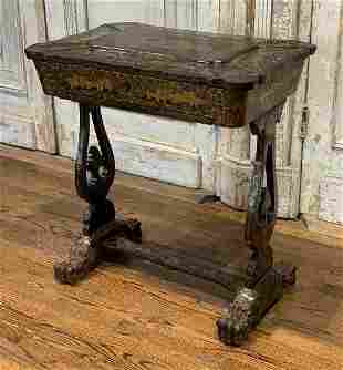Regency Chinoiserie Sewing Table