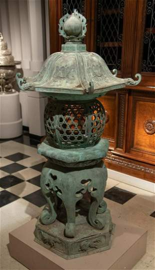 Japanese Temple Lantern As Garden Element