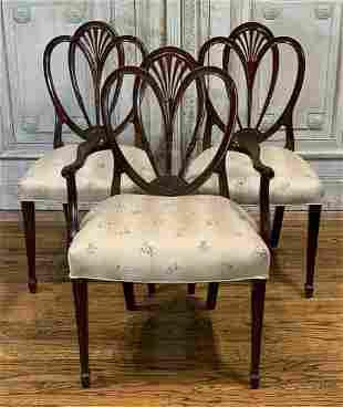 Group Of 3 Mahogany Chairs