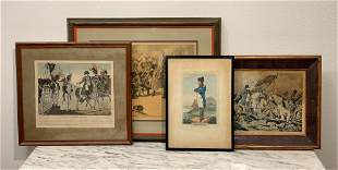 Group Of 19th Century Engravings Of Napoleon