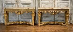Fabulous Pair Of Louis XIV Style Consoles