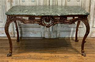 19th Century French Carved Center Table