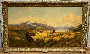 Signed 19th Century Oil On Canvas, H W B Davis
