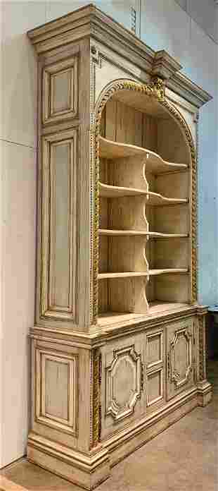 Monumental Louis Philippe Painted Bookcase