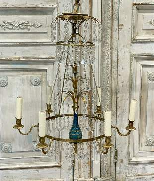 Baltic Bronze And Crystal Chandelier
