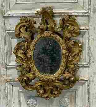 19th Century Italian Carved Giltwood Mirror