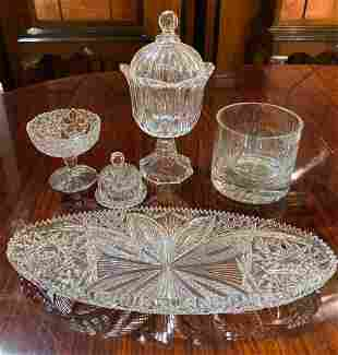 5-piece Lot Of Cut Glass And Crystal