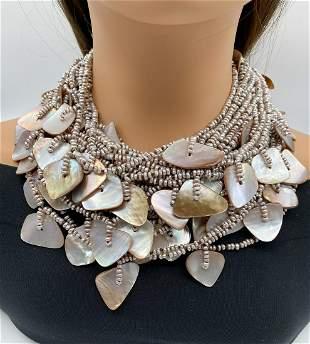 Mother-of-pearl And Pearl Necklace