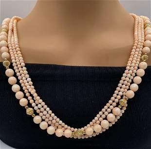 Angel Skin Coral Beads