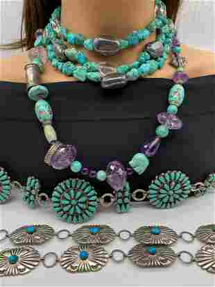 Sterling And Turquoise Jewelry Lot