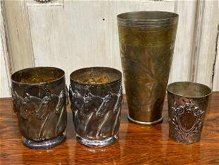 Group Of 4 Silver Vessels