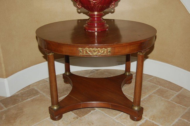 17: Antique French Empire Center Table believed to be w