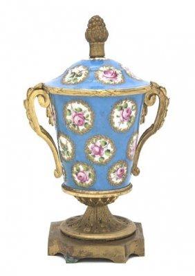 Antique French Sevres cache pot