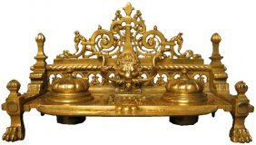 Antique French Gilt Bronze Inkwell