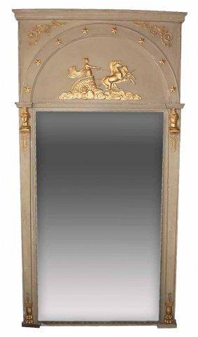 Antique French Empire style parcel gilt trumeau